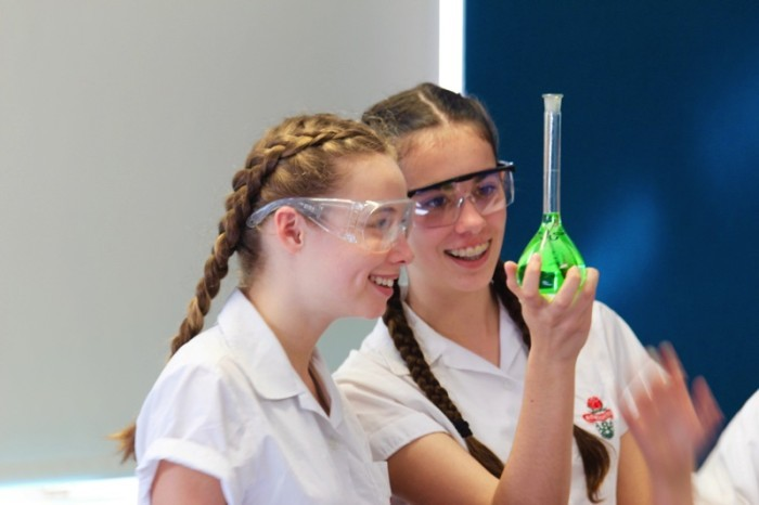 students in the science lab.